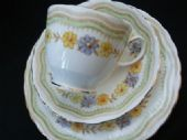 Tuscan China vintage tea trio